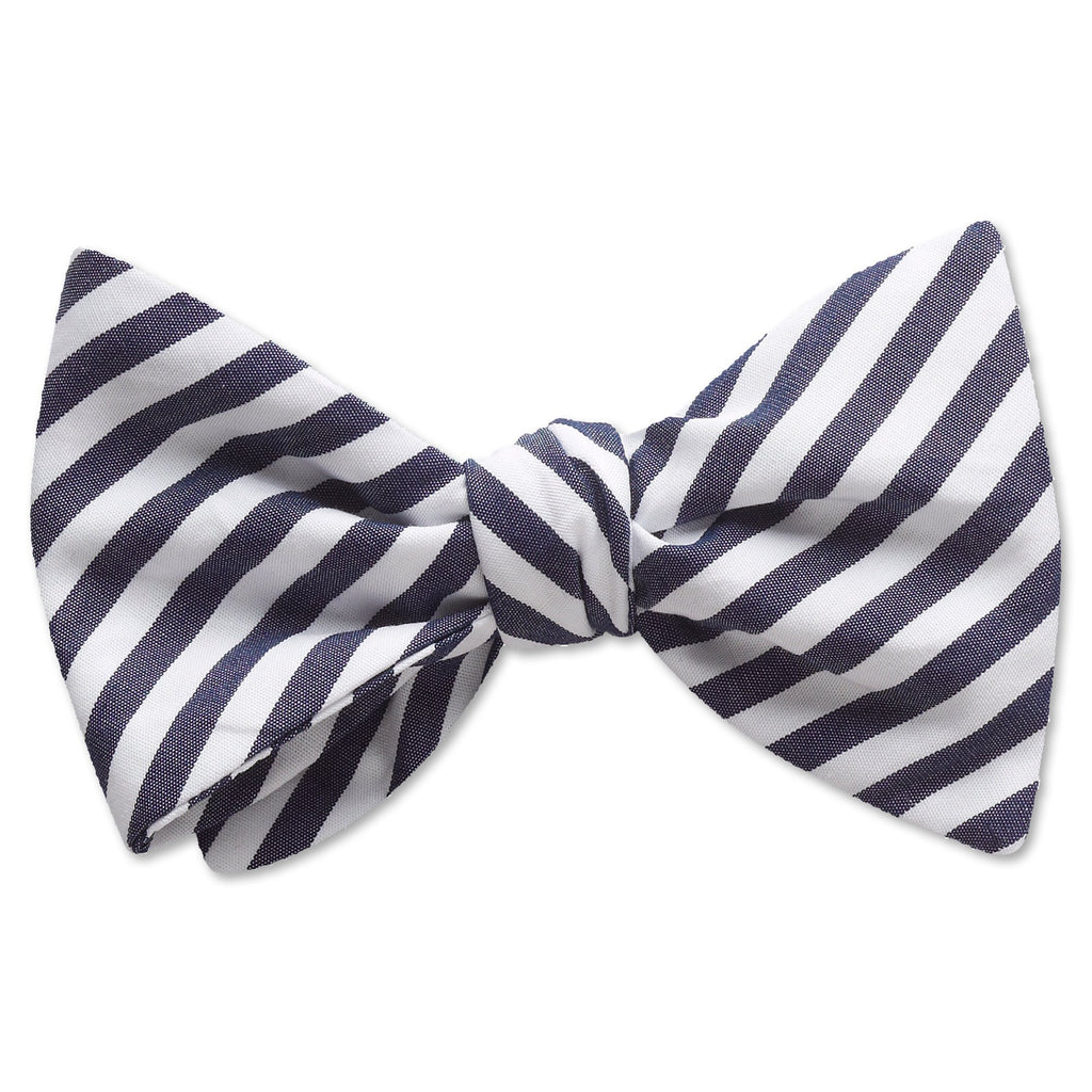 Visage Stripe Navy - bow ties