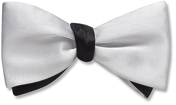 White/Black Charmeuse - bow ties