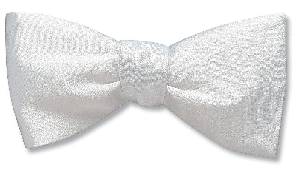 White Charmeuse - bow ties