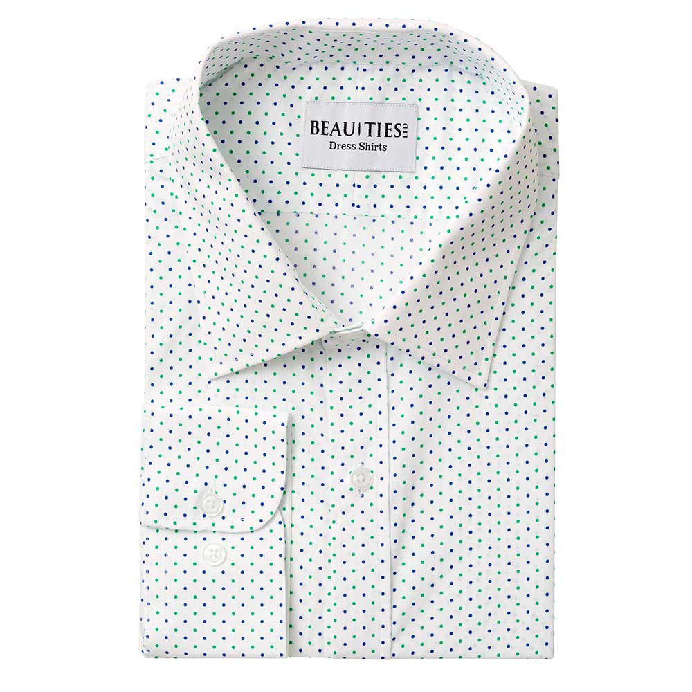 Green and Blue Dot Dress Shirt