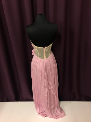 A.B.S. Size 4 Pink Strapless Formal Dress