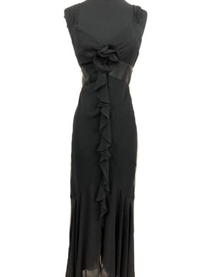 ABS Size 8 Black Formal Dress