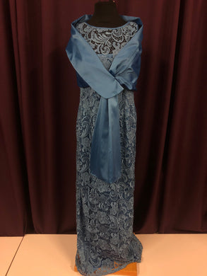 Adrianna Papell Size 10 Blue Lace NEW Formal Dress