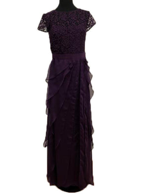 Adrianna Papell Size 10 Purple Lace Formal Dress
