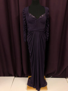 Adrianna Papell Size 10 Purple Sequin Sleeve NEW Formal Dress