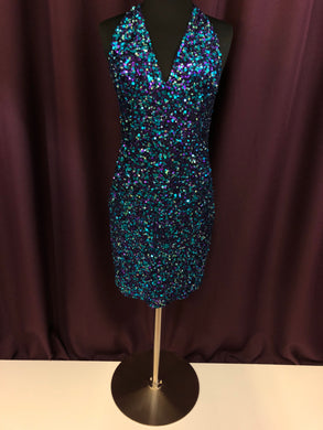 Adrianna Papell Size 2 Black Sequin Formal Dress