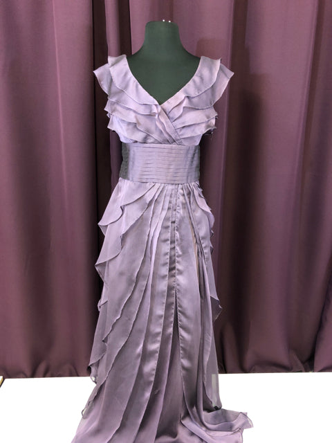 Adrianna Papell Size 4 Purple Ruffle Formal Dress