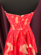 Adrianna Papell Size 4 Red Lace Glitter Formal Dress
