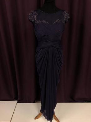 Adrianna Papell Size 8 Purple Bead Formal Dress