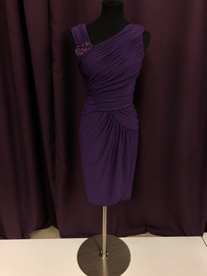 Adrianna Papell Size 8 Purple Rushing  Broach Formal Dress