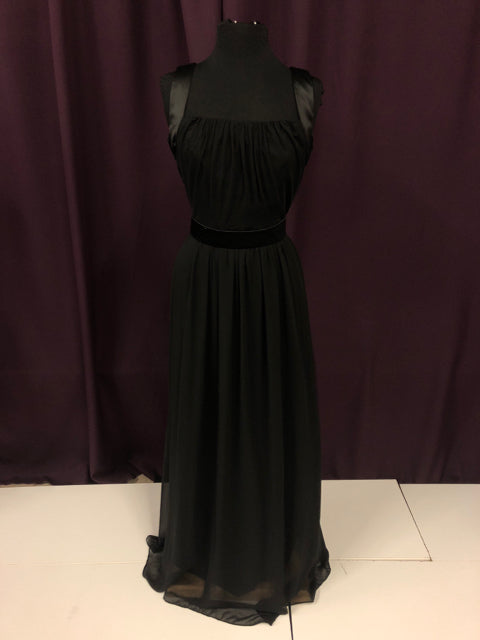 After Six Size 10 Black Long Belt Formal Dress
