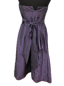 After Six Size 10 Purple Belt  Strapless Short Formal Dress