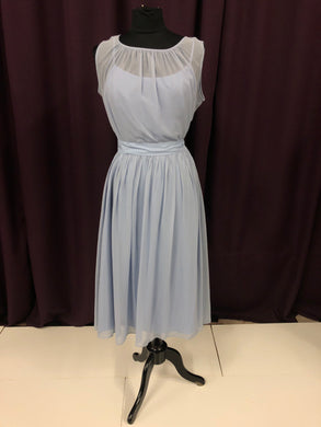 After Six Size 12 Blue Illusion Formal Dress
