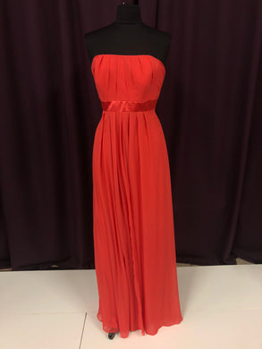 After Six Size 12 Orange Long Belt Formal Dress