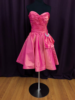 After Six Size 12 Pink Strapless Formal Dress