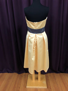 After Six Size 12 Yellow Belt  Formal Dress