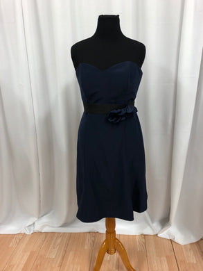 After Six Size 14 Navy Blue Flower Formal Dress