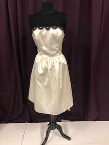 After Six Size 14 White Belt  Lace Formal Dress