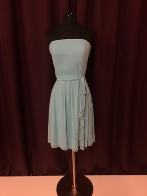 After Six Size 8 Blue Short  Belt Formal Dress