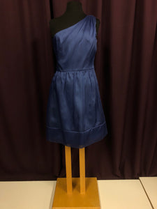 After Six Size 8 Blue Short  Tulle One Shoulder Formal Dress