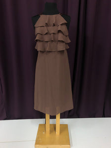 After Six Size 8 Brown Short  Ruffle Formal Dress