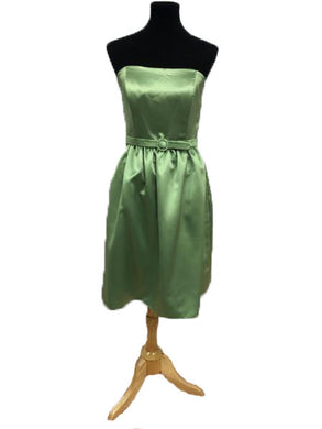 After Six Size 8 Green Short  Belt Strapless Formal Dress