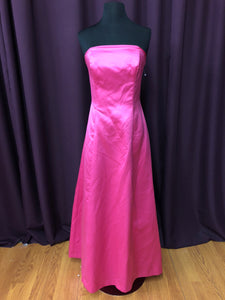 After Six Size 8 Pink Long Strapless Formal Dress