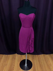 After Six Size 8 Pink Strapless Short Formal Dress