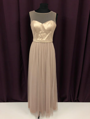 After Six Size 8 Tan Strapless Tulle Formal Dress