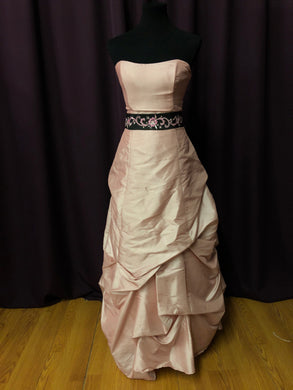 Alexia Size 12 Pink Black Sash Formal Dress