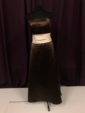 Alexia Size 14 Brown Strapless Formal Dress