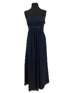 Alexia Size 14 Navy Blue Strapless Formal Dress