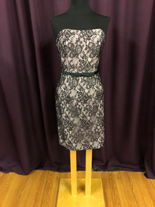 Alfred Angelo Size 10 Black Lace Formal Dress