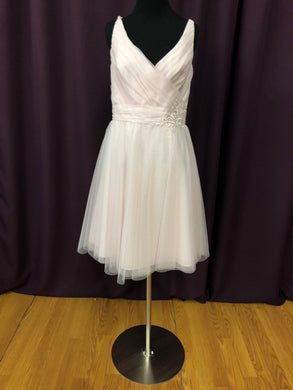 Alfred Angelo Size 10 Blush Pink Mesh NEW Formal Dress