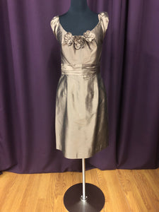 Alfred Angelo Size 10 Brown Short  Flower Formal Dress