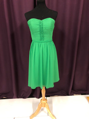 Alfred Angelo Size 10 Green Ruffle Formal Dress