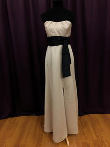 Alfred Angelo Size 10 Ivory Belt  Bow Formal Dress