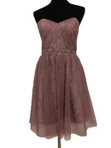 Alfred Angelo Size 10 Purple Lace Formal Dress