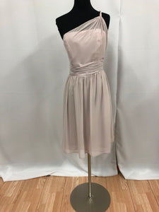 Alfred Angelo Size 10 Purple One Shoulder Bead Formal Dress