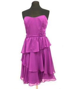 Alfred Angelo Size 10 Purple Ruffle Bow Formal Dress