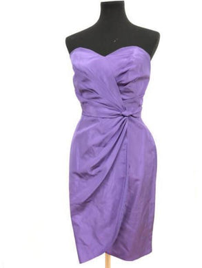 Alfred Angelo Size 10 Purple Rushing  Short Formal Dress