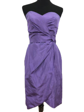 Alfred Angelo Size 10 Purple Strapless Formal Dress