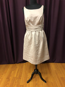 Alfred Angelo Size 10 Tan Short  Formal Dress