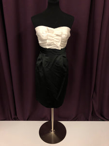 Alfred Angelo Size 10 White Ruffle Short Formal Dress