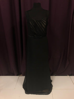 Alfred Angelo Size 12 Black Bow Formal Dress