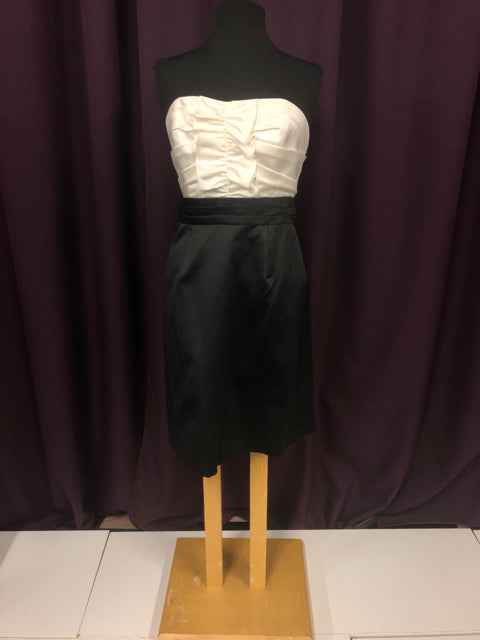 Alfred Angelo Size 12 Black Ruffle Strapless Formal Dress