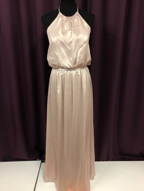 Alfred Angelo Size 12 Pink Shimmer Champagne Formal Dress