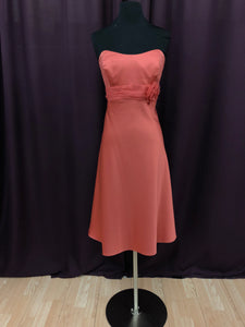 Alfred Angelo Size 12 Pink Short Flower Formal Dress