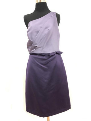 Alfred Angelo Size 12 Purple Belt  Formal Dress