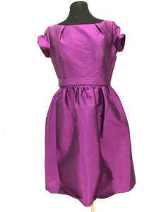 Alfred Angelo Size 12 Purple Belt  Short Formal Dress